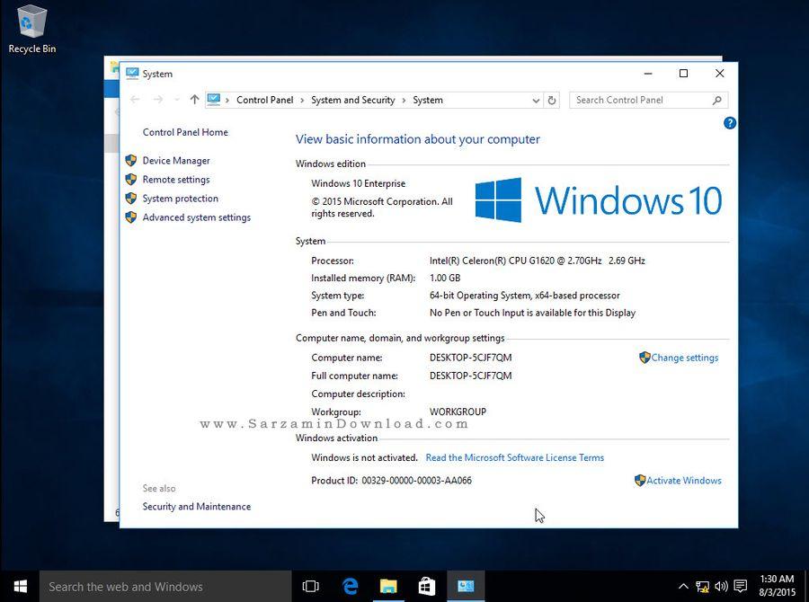 ویندوز 10 اینتر پرایز - Windows 10 Enterprise
