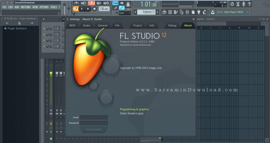 نرم افزار آهنگ سازی اف ال استودیو، به همراه پلاگین ها - FL Studio Producer Edition 12.1.2 With Plugins
