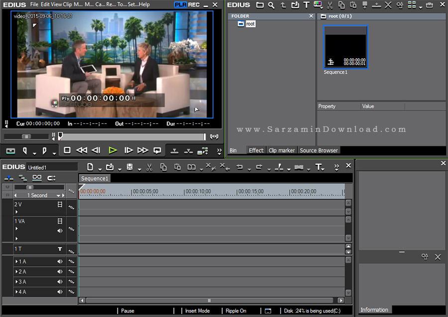 نرم افزار حرفه ای تدوین و میکس فیلم ادیوس - Grass Valley Edius Pro 7.5