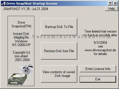 آموزش برنامه Drive SnapShot