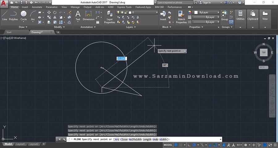 نرم افزار حرفه ای نقشه کشی اتوکد - Autodesk AutoCAD 2017