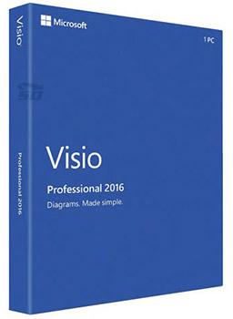 نرم افزار طراحی نمودار مایکروساف ویزو (برای ویندوز) - Microsoft Visio Professional 2016 RTM VL Windows
