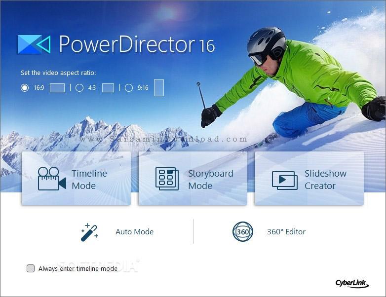 نرم افزار ویرایش فیلم (برای ویندوز) - CyberLink PowerDirector Ultimate 16.0.2420.0 Windows